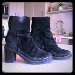 FREEBIRD by Steven booties, size 9, Black.